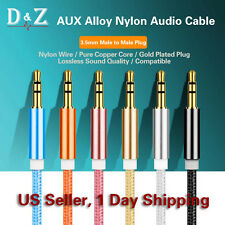 3FT 3.5MM STEREO AUDIO HEADPHONE CABLE CORD MALE TO MALE AUX MP3 IPOD PC