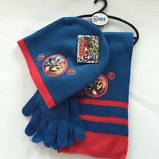 Lot Avengers knit beanie hat children winter knitted  scarf gloves hat set M772