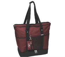 Tote Bag 16.5-inch Deluxe Shopper Tote Mulit Compartment Shopping Bag Zippered