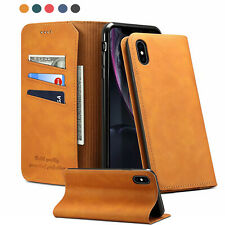 Zipper Matte PU Leather Wallet Card Photo Purse Case Removable Back Pouch Cover