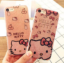 Hello Kitty Shiny Silicon Soft Case Cover Skin For iPhone 6/6S Plus iPhone7 Plus