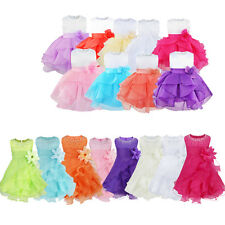 Kids Girls Baby Infant Flower Princess Tulle Toddler Wedding Party Pageant Dress