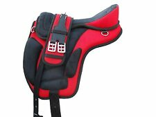 All Purpose Freemax Synthetic Treeless Saddle Red/black + Matching Girth