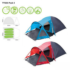 YELLOWSTONE 4 MAN PEAK DOME TENT WITH PORCH CAMPING FESTIVAL QUICK EASY PITCH