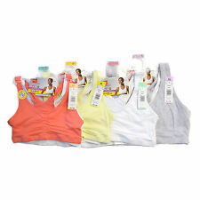 New With Tags Hanes Sports Bras Cotton Pullover Crop Tops H370 - 2 Pack