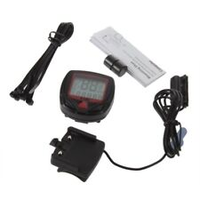 Digital Bicycle Bike LCD Cycling Computer Odometer Speedometer Stopwatch New WW