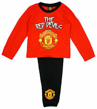 Boys Manchester United Red Devils MUFC Toddler Pyjamas 12 Months to 4 Years