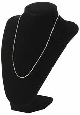 Black Velvet Necklace Pendant Chain Link Jewelry Bust Display Holder XP
