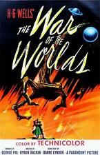 1953 Science Fiction Horror The War of the Worlds Art Canvas Movie POSTER 18x12""