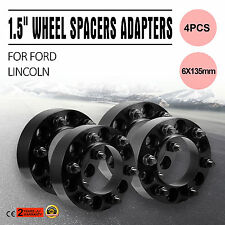 4 Hub centric Black Wheel Spacers Adapters fits Ford F150 Expedition 6x135