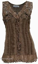 NEW Pretty Angel Clothing Mercer Women's Vintage Corset Top In Brown 67642