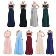 Women Long Chiffon Evening Formal Party Ball Gown Prom Cocktail Bridesmaid Dress