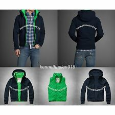 NWT ABERCROMBIE & FITCH MENS MACOMB MOUNTAIN HOODIE NAVY SIZE MEDIUM A&F