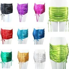 Sexy Women Micro Mini Skirt Wet Looking Patent Leather Lingerie Clubwear wetlook