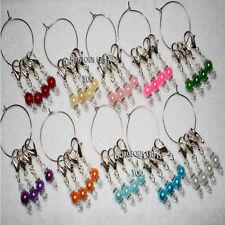 Set 4 Stitch Markers Knitting Crochet Accessory Clip Charm - Select Glass Colour