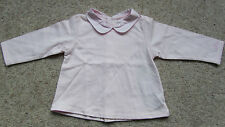 Elle Baby Girls Pink Top with Collar Size; 6 & 9 Mths BNWT
