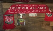 Liverpool FC All Star Charity Match Programme, Scarf And Ticket Anfield Gerrard