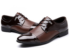 Pluse Size Mens Black/Brown Oxford Leather Shoes Men Dress Formal Casual Shoes