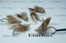 6 x Eliteflies Muddler Minnow fly fishing flies trout salmon steelhead Size 6