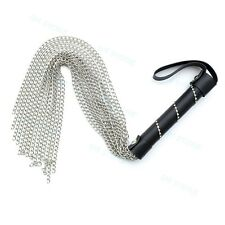 Stainless Steel Chain Whip Bondage Adult Toy Fun Kinky Role Play Fetish Flogger