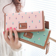 Women Lady Fashion PU Leather Wallet Long Card Holder Handbag Bag Clutch Purse w