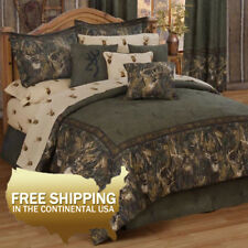 Browning Comforter Set Bed in a Bag Whitetails [Twin, Full, Queen, King]