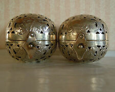 A Vintage Pair of Anglo-Indian Silver Incense Burners