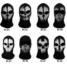 Call of Duty 10 Ghost Skull Face Mask Cosplay Balaclava Skateboard Bike Hood