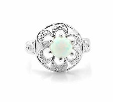925 Sterling Silver Ring with Round Cut Opal Natural Gemstone Handcrafted eBay.