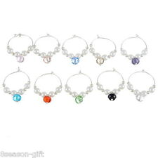 Wholesale Lots Mixed Acrylic Pearl Wine Glass Charms Gifts