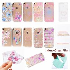Film+Fashion Flower Floral Cottage SOFT RUGGED Back Case Cover For Apple iPhone