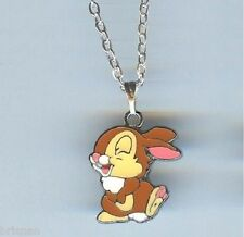 THUMPER RABBIT, Bunny, Bambi Charm Pendant & .925 Silver Necklace