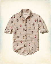 NWT Hollister by Abercrombie Mens Patterned Flannel Shirt 100% Cotton M/L