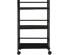 Marshall 3-Shelf Rolling Utility Cart Kitchen Utility Cart 2 Lockable Casters