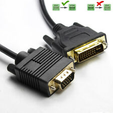 Gold DVI 24+5 DVI-I Dual Link to VGA Male to Male Digital Video Cable 1080P PC