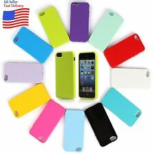 Silicone Rubber Gel TPU Jelly Glossy Case Cover Skins For Apple iPhone 5 5s SE