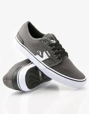 Adio KICK Skate Shoe Mens Trainers Charcoal Grey - White choice of size 50% OFF