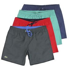 LACOSTE SWIM SHORTS - BEACH SHORT FROM LACOSTE - NAVY/BLACK/RED/TURQUOISE