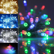 20/40 LED BULBS BATTERY OPERATED FAIRY STRING LIGHTS STATIC/FLASHING EFFECT XMAS