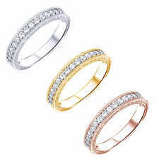 1/3CT Vintage Diamond Wedding Ring 14K Gold Anniversary Stackable Antique