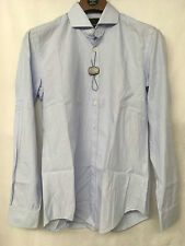 Oliver Sweeney Blue 100% Cotton Pin Stripped Shirt. Size S.