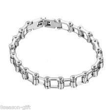 Wholesale Lots Stainless Steel Men's Bike Bicycle Chain Bracelet  22.6cm