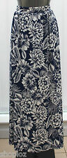 M&S Collection Sizes 10 12  Long Pull On Jersey Maxi Skirt Bnwt 39L Navy White