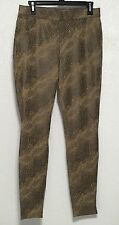Hue U16990H Brown Stretch Python Microsuede Leggings Size M L XL New MSRP $54