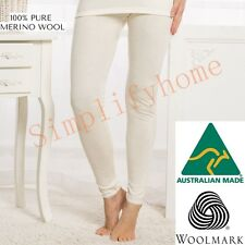 Women's 100% Pure Merino Wool Long John Top Leggings Pants Thermal Underwear 02