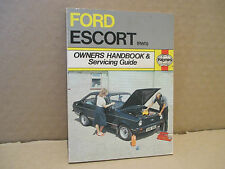 FORD ESCORT MK1/MK2 OWNERS HANDBOOK & SERVICING GUIDE BY HAYNES. (1968 TO 1980)