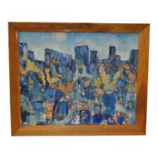 Appealing Circa 1950s Mid-Century Modern Abstract Oil Painting