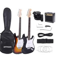 ammoon Electric Guitar Set with Tuner Amplifier Gig Bag Strap Strings Cable M9D6