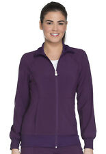 Scrubs Cherokee Zip Front Warm-Up Jacket 2391A EGG Eggplant Free Shipping