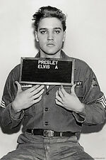 Elvis Presley - Enlistment Photo Poster (24x36) (Wall Art, Framed Posters)